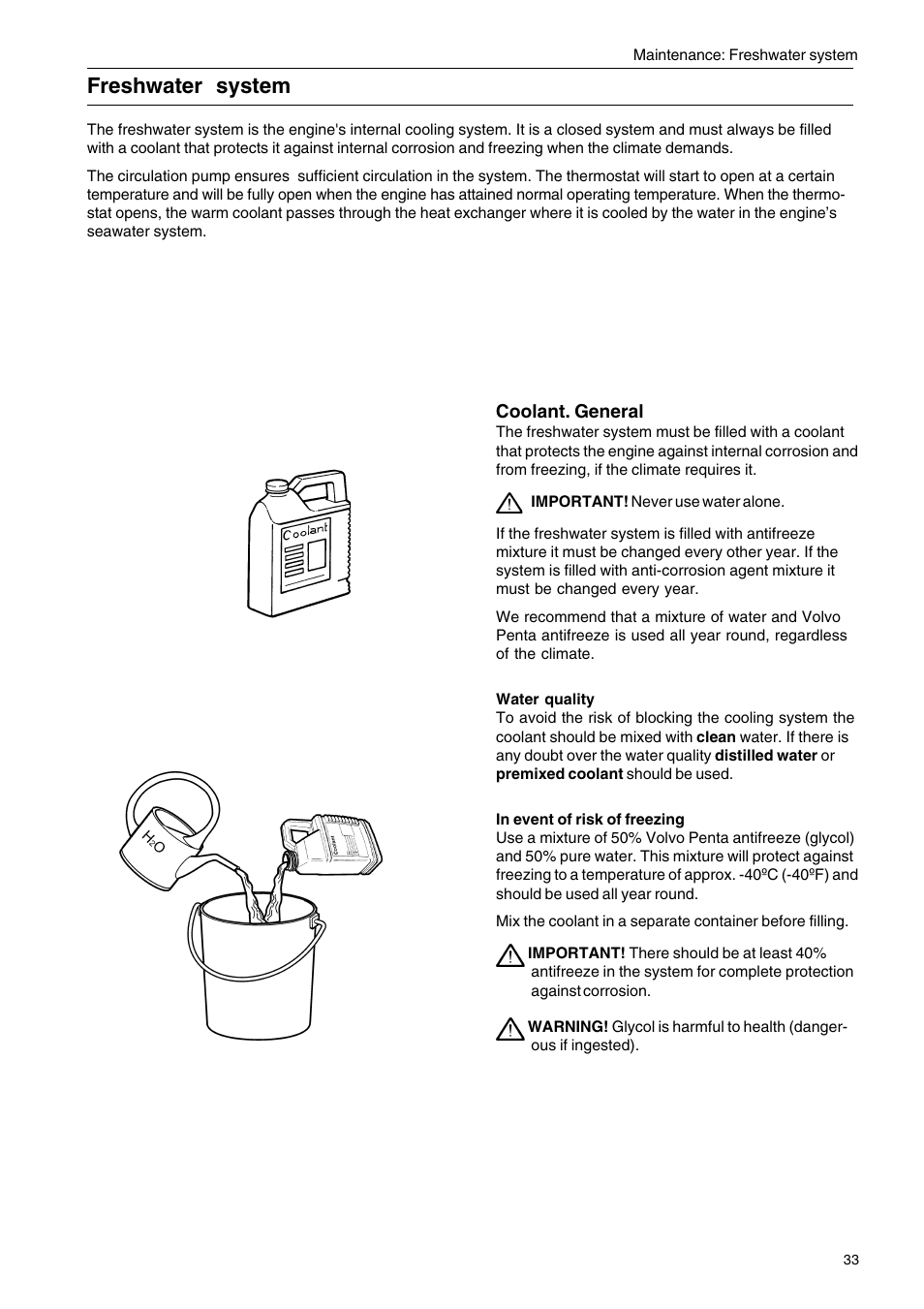 Freshwater System Volvo Penta D2 75 User Manual Page 35 68 General Engine Coolant