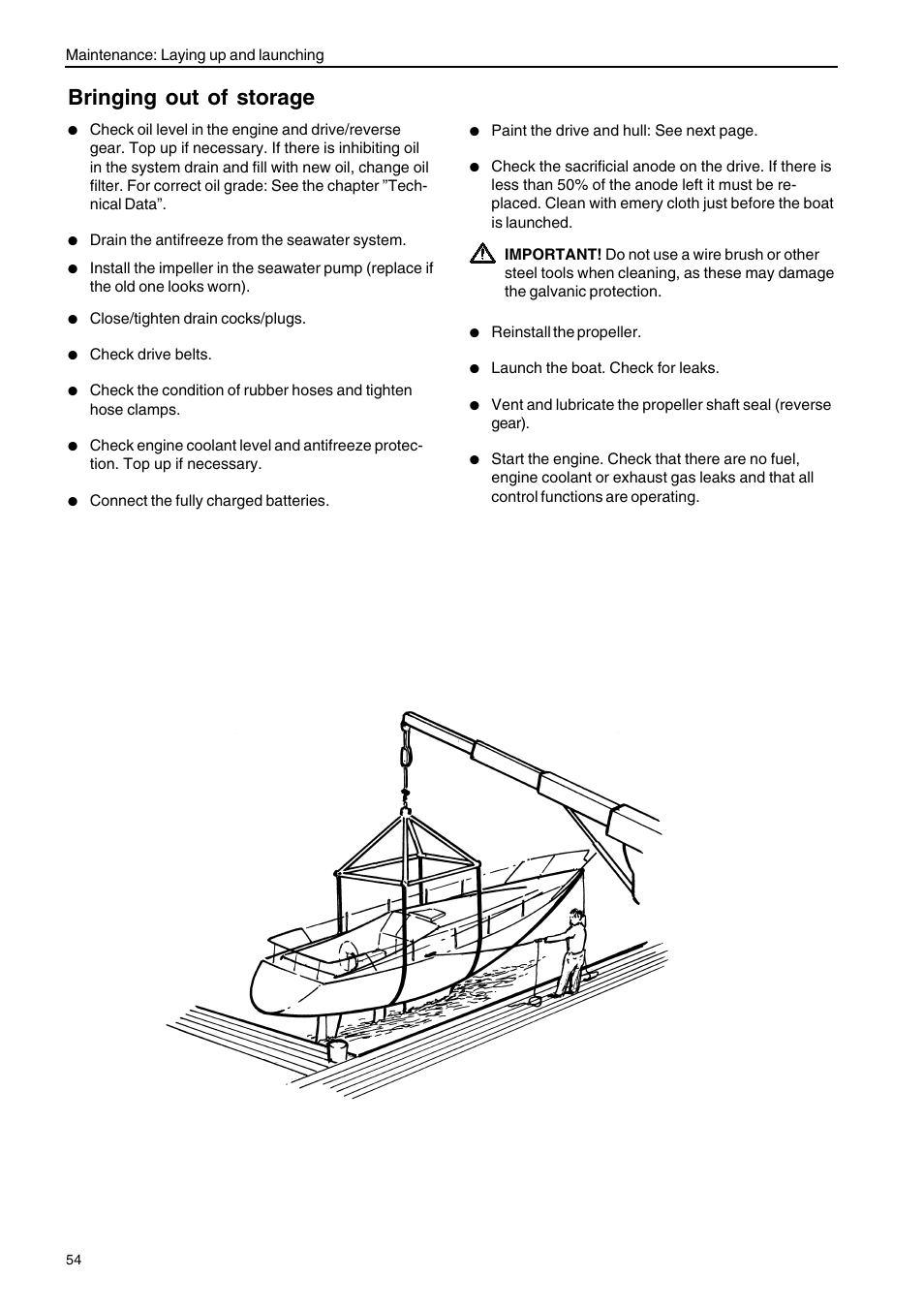 Bringing Out Of Storage Volvo Penta D2 75 User Manual Page 56 Boat Engine Diagram