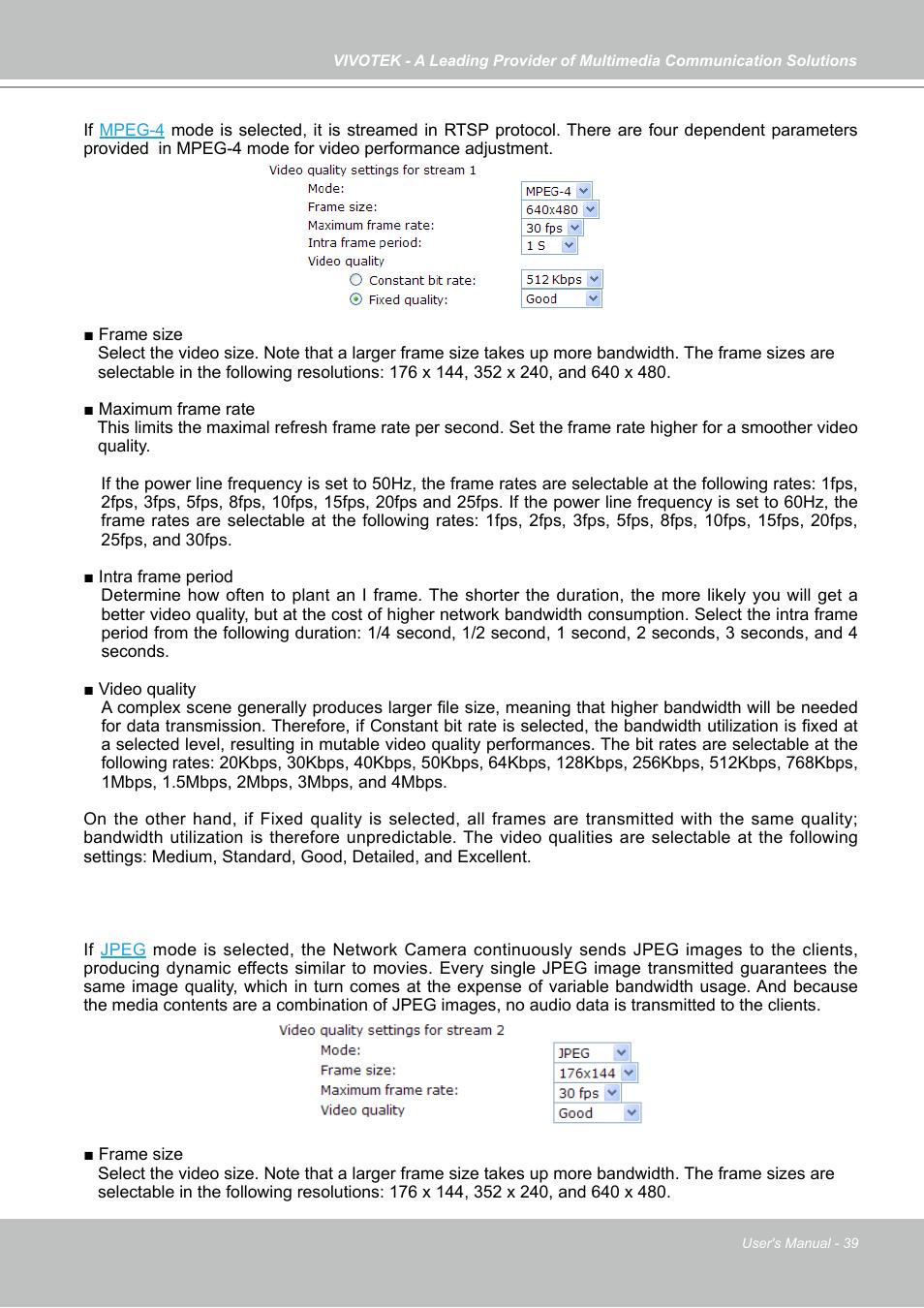 Vivotek IP7133 (WIRED) User Manual | Page 39 / 90 | Original mode
