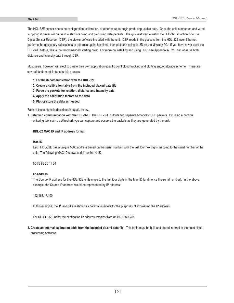 Velodyne Acoustics LIDAR HDL-32E User Manual | Page 8 / 28