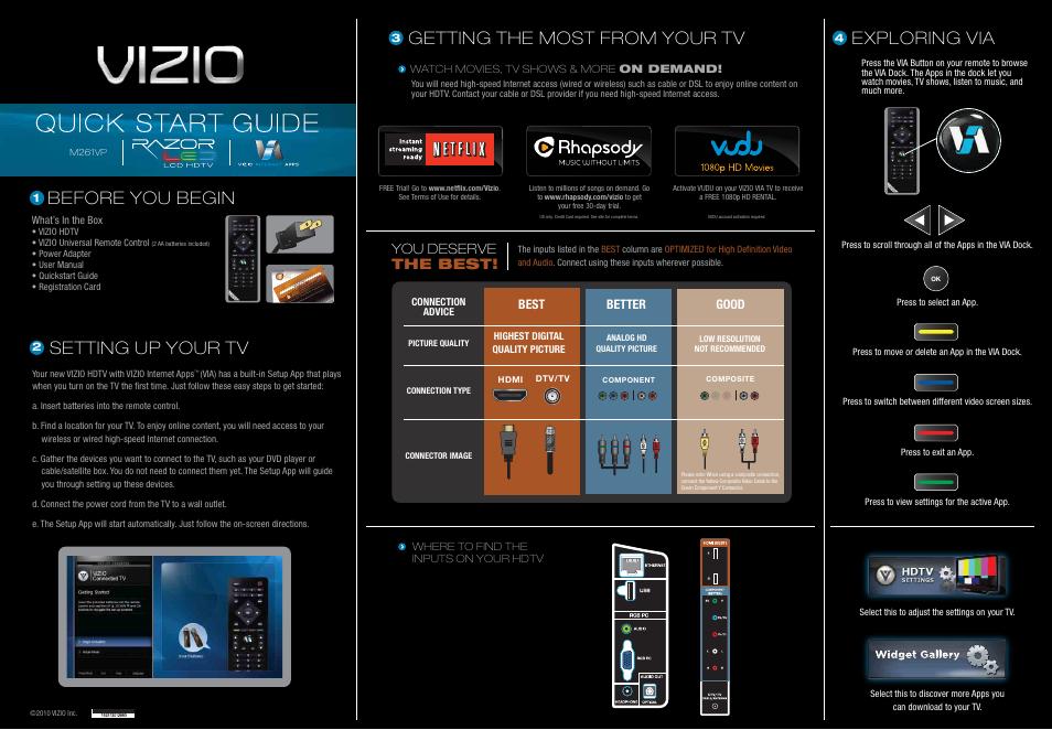 vizio m261vp user manual 2 pages rh manualsdir com Vizio TV vizio tv m261vp manual