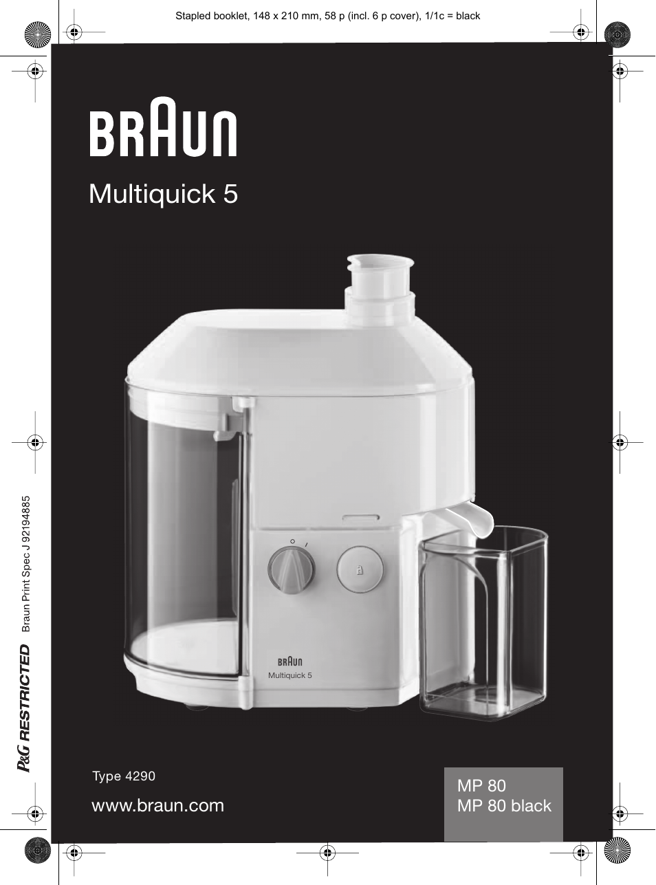 Braun Mp 80 инструкция