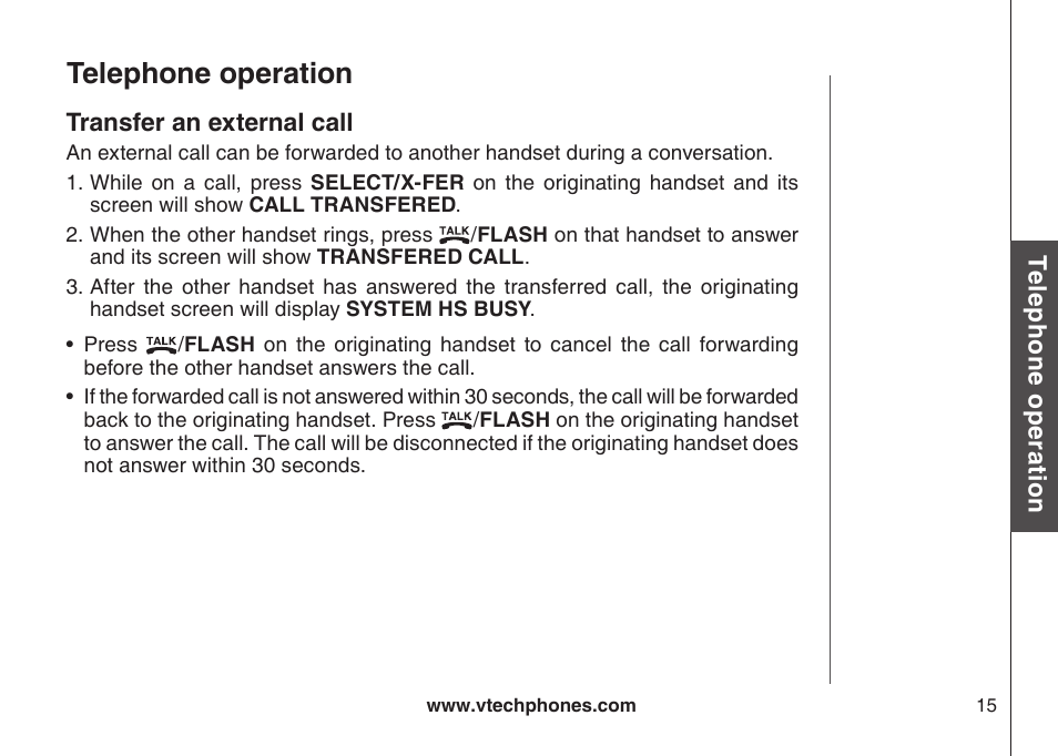 telephone operation vtech cs5111 3 user manual page 18 56 rh manualsdir com VTech Phone User Manual VTech Phone User Manual