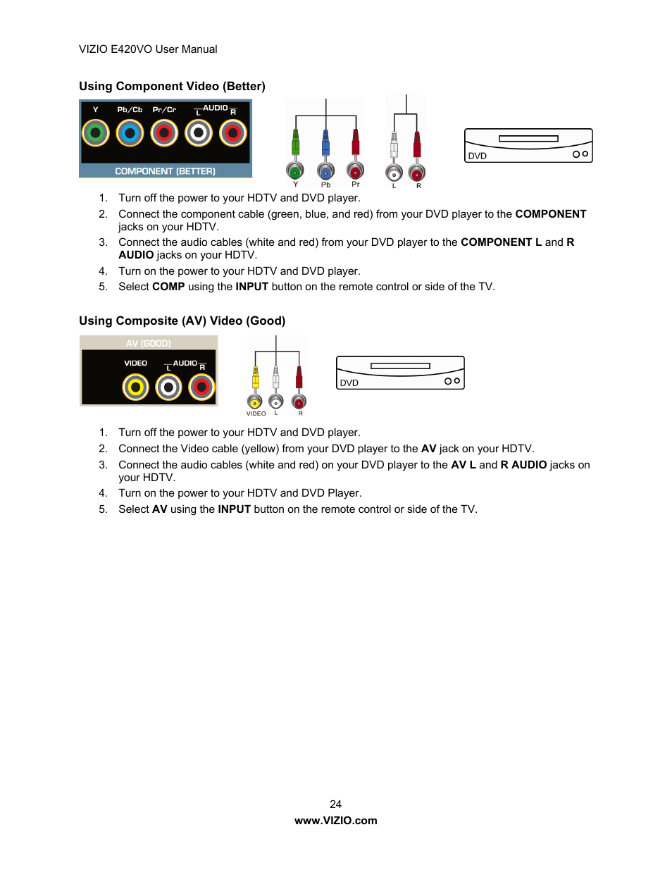 vizio e420vo user manual page 24 52 original mode rh manualsdir com Vizio E420VO Parts Vizio E421VO