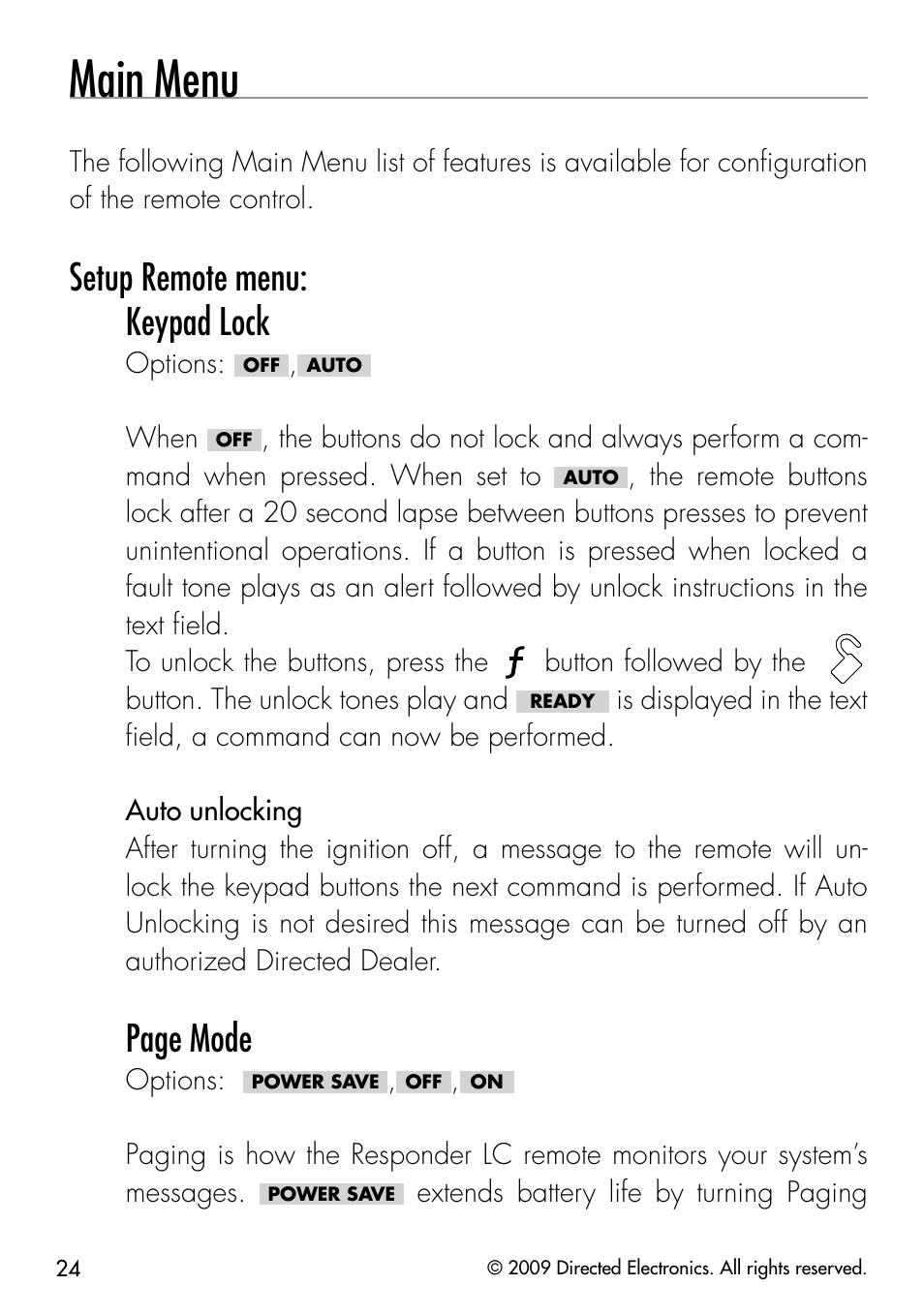 5901 Viper Manual Wiring Diy Detailed Installation Main Menu Setup Remote Keypad Lock Page Mode Rh Manualsdir Com 501 Problems
