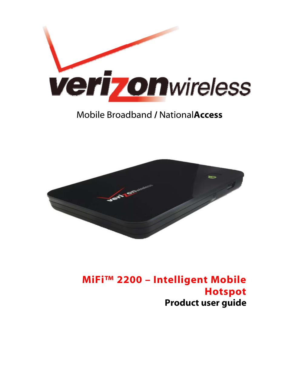 verizon mifi 2200 user manual 50 pages rh manualsdir com Verizon MiFi 2200 WEP Security Verizon MiFi 4510L Review