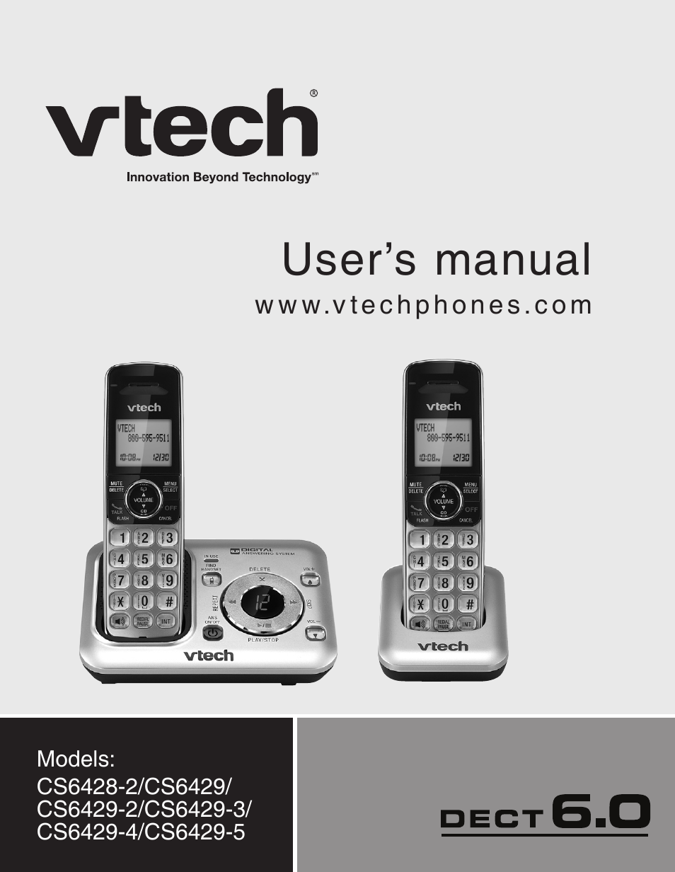 vtech cs6429 5 manual browse manual guides u2022 rh trufflefries co vtech digital answering machine manual vtech cs6124 cordless answering system manual