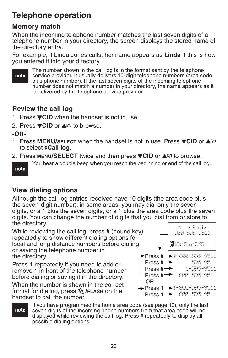 Memory Match Review The Call Log View Dialing Options