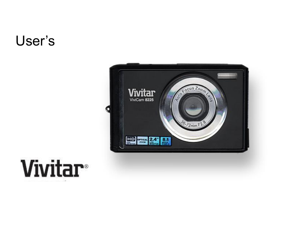 Vivitar vivicam 8225 digital camera (purple) 8225-purple b&h.