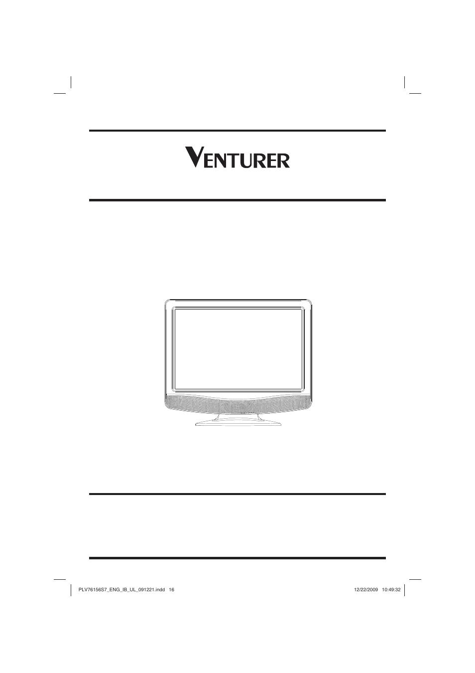 venturer 15 lcd tv plv7615h user manual 16 pages rh manualsdir com venturer tv dvd combo manual venturer under cabinet tv manual