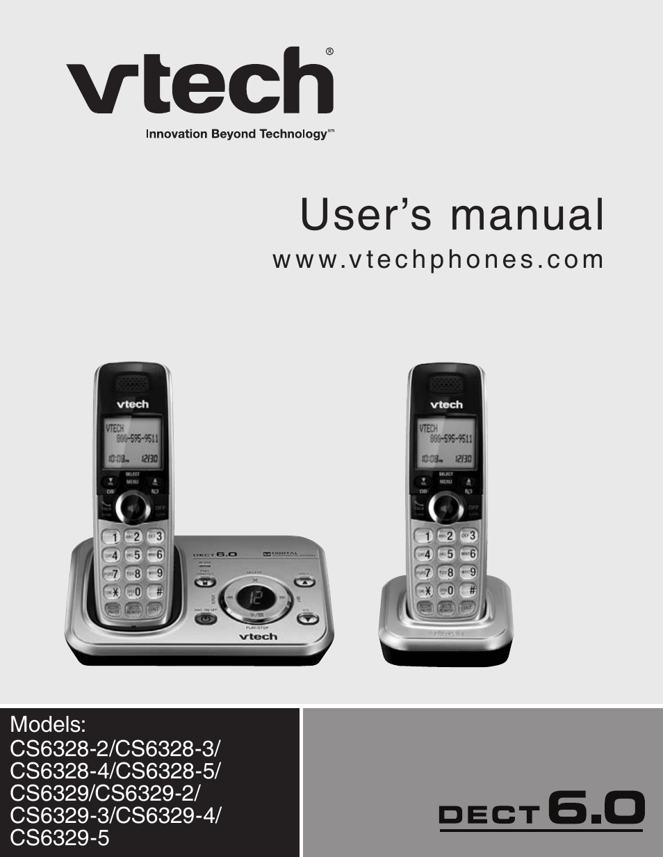 vtech cs6329 5 user manual 71 pages also for cs6328 3 cs6328 4 rh manualsdir com VTech My Laptop vtech cs6329 2 manual