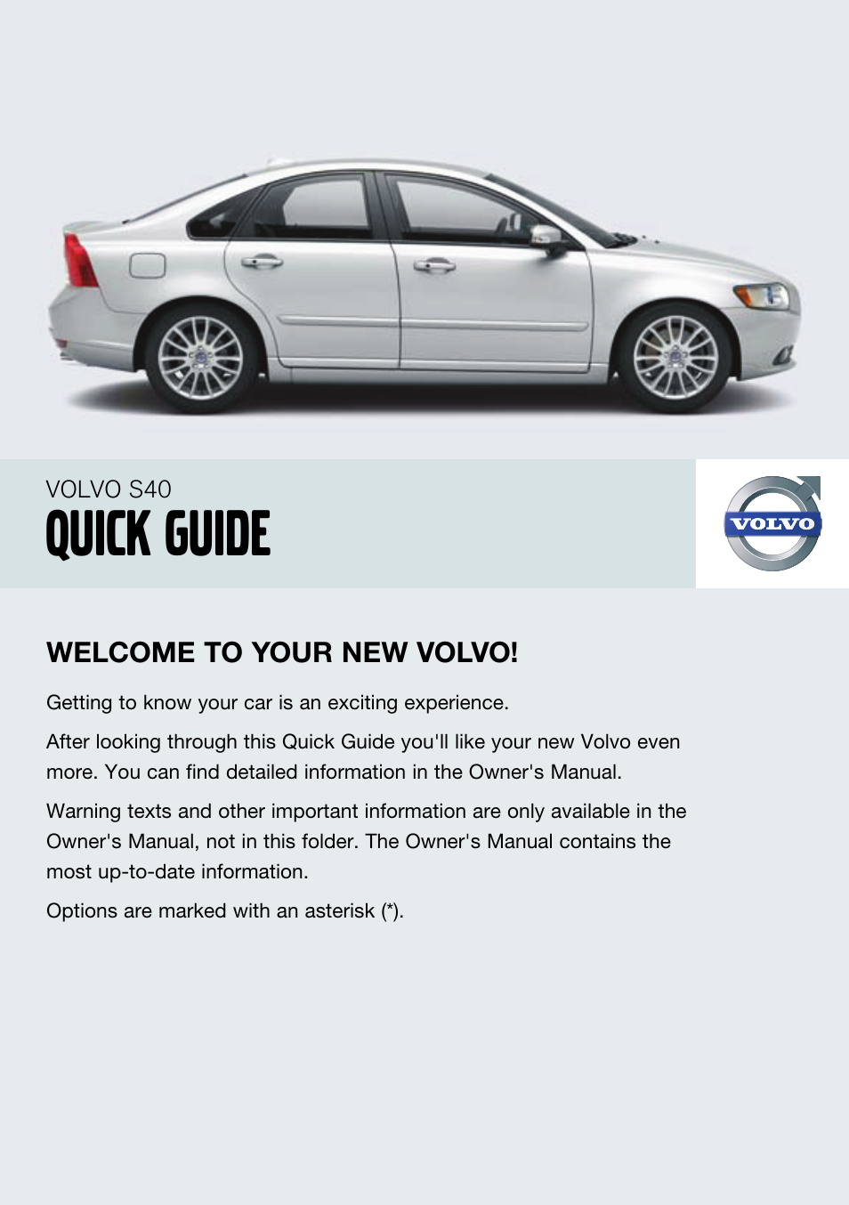 volvo 2008 s40 user manual 8 pages rh manualsdir com 2008 Volvo S80 Maintenance Schedule 2008 Volvo S80 Black