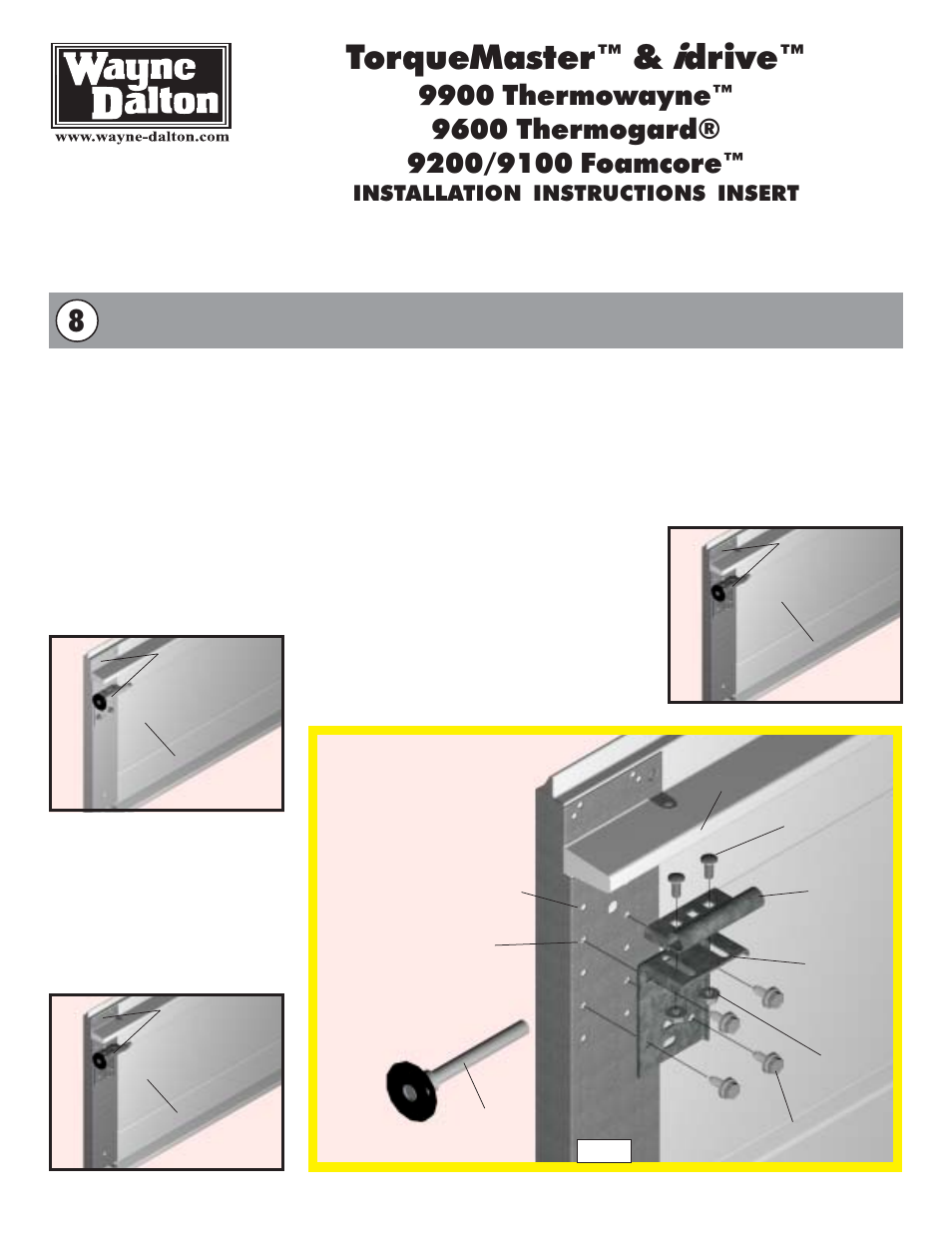 torquemaster i drive installation instructions insert wayne rh manualsdir com Wayne Dalton Replacement Parts Wayne Dalton Garage Door Openers