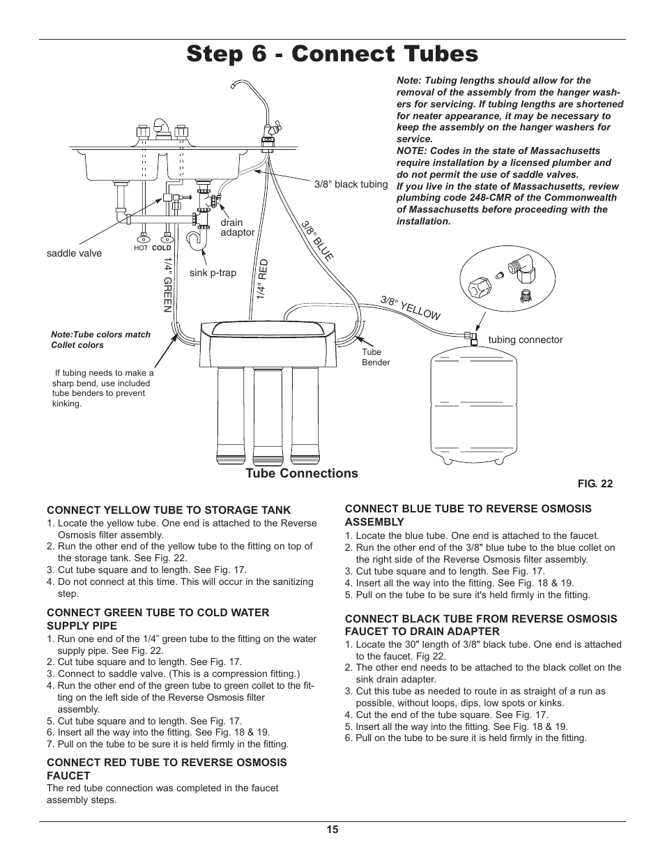 step 6 connect tubes tube connections whirlpool wher25 user rh manualsdir com whirlpool wher25 manual pdf Whirlpool WHER25 Reverse Osmosis Filtration System