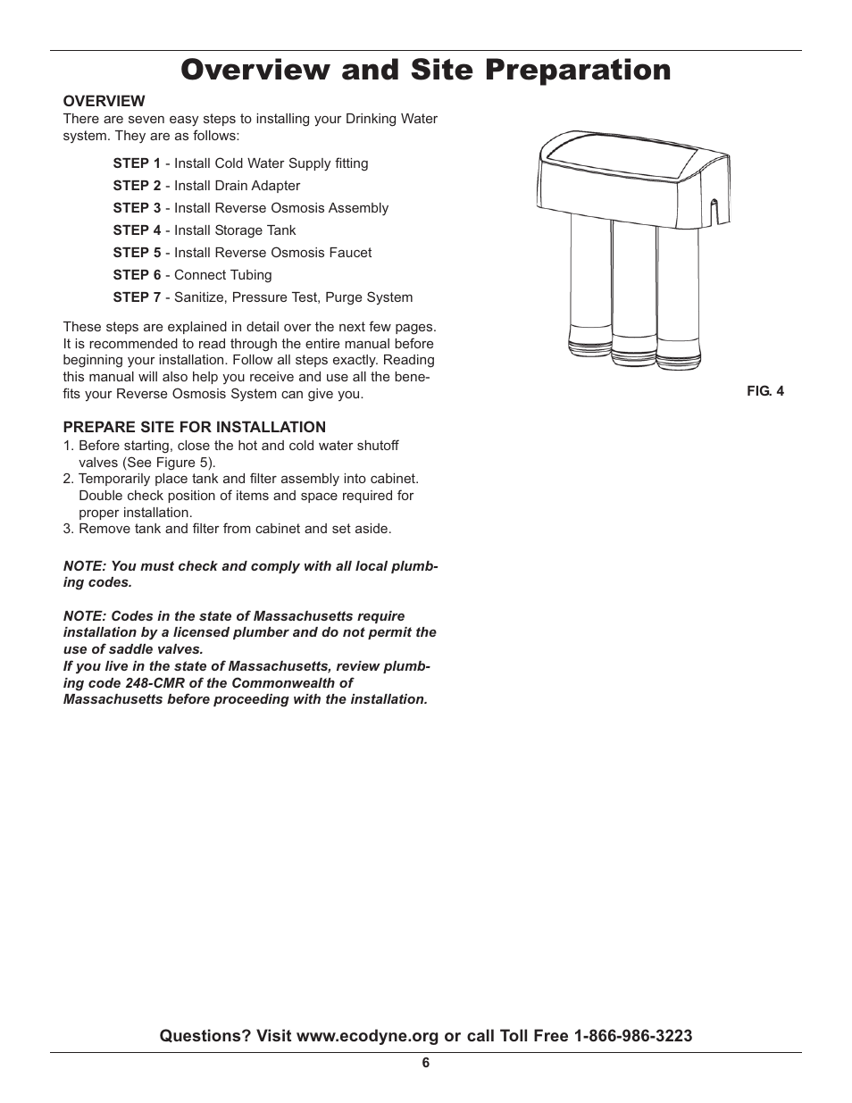 overview and site preparation whirlpool wher25 user manual page rh manualsdir com Whirlpool WHES30 Troubleshooting Whirlpool Reverse Osmosis Diagram