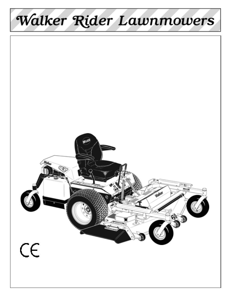 Walker MBSSD 27 HP User Manual 84 pages