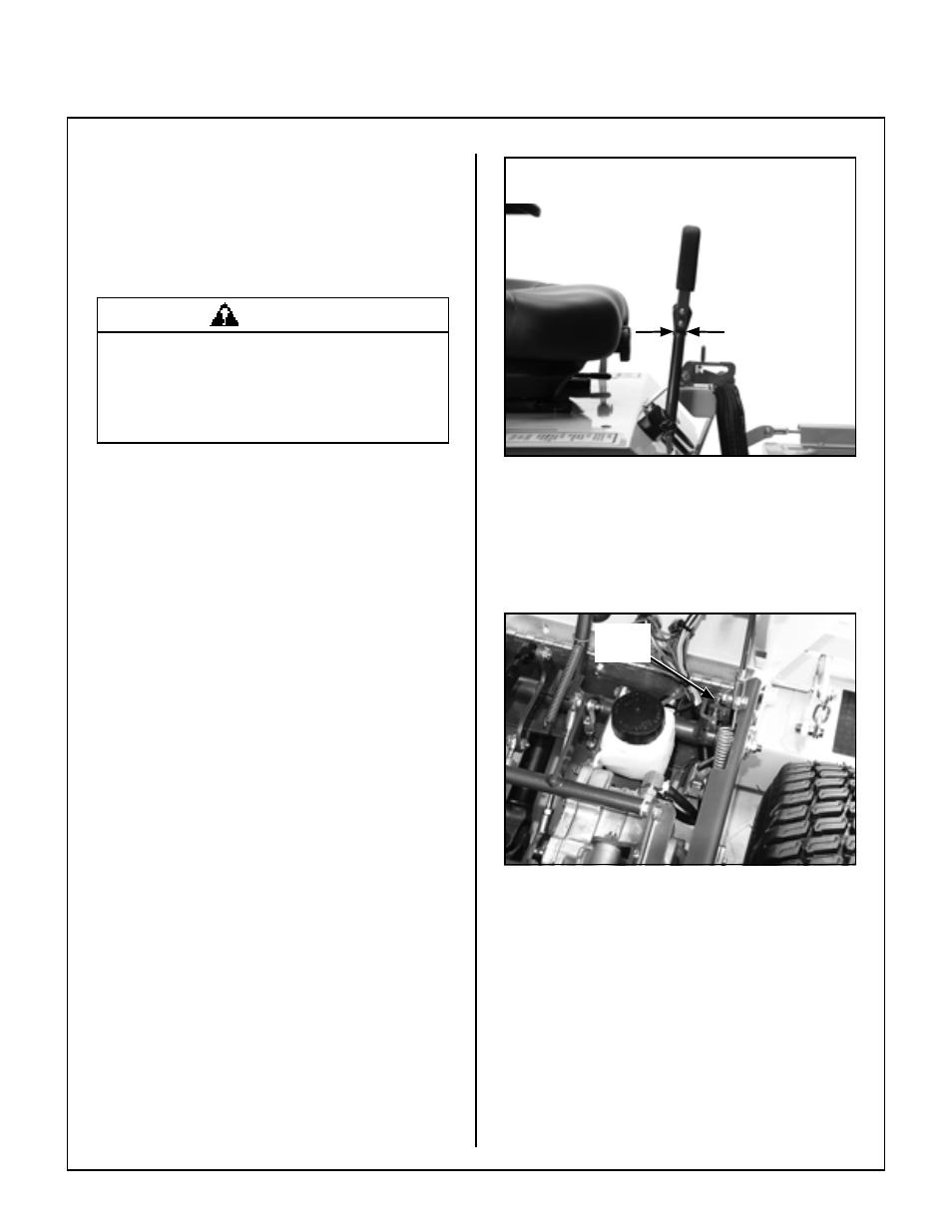 Adjustments, Transmission control, Steering lever position