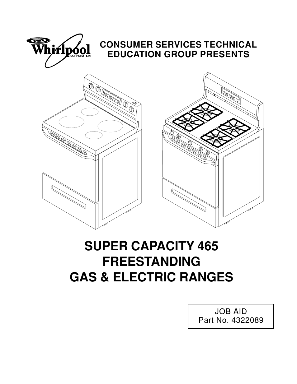whirlpool 465 user manual 32 pages also for super capacity 465 rh manualsdir com Whirlpool Oven Parts Whirlpool Gas Range Parts