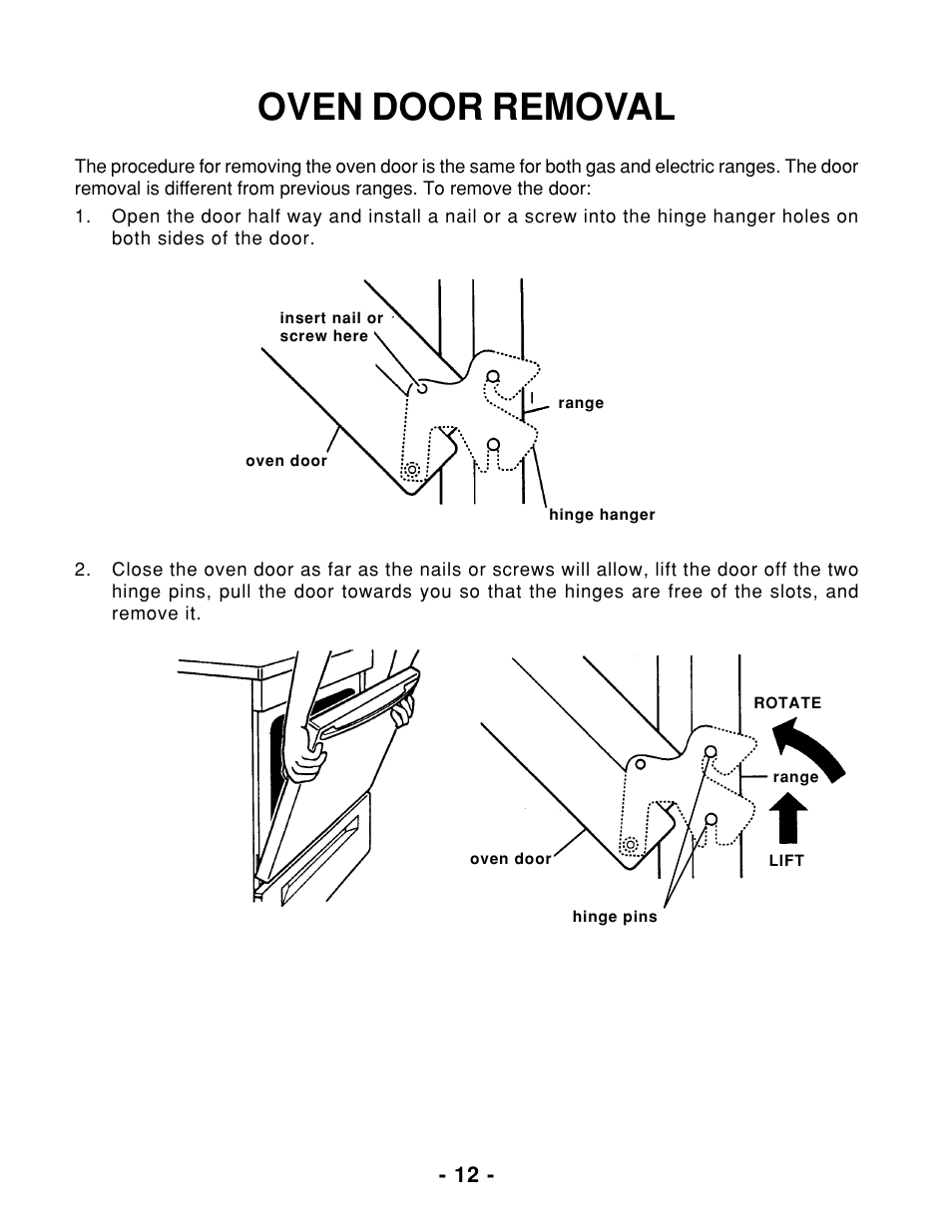 Oven Door Removal Whirlpool 465 User Manual Page 14 32