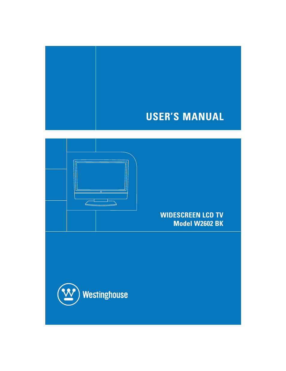 Westinghouse W2602 BK User Manual | 26 pages