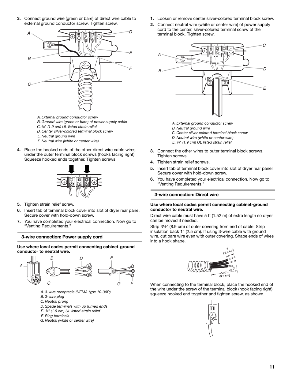 Whirlpool Duet Gew9250pw0 User Manual Page 11 28 Also For Nema 10 30r Wiring Diagram Gew9250pl0