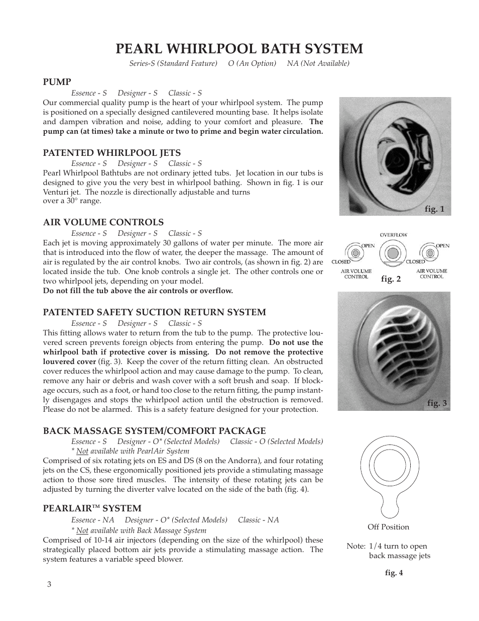 Pearl whirlpool bath system | Whirlpool Maax Pearl Hot Tub User Manual |  Page 4 /