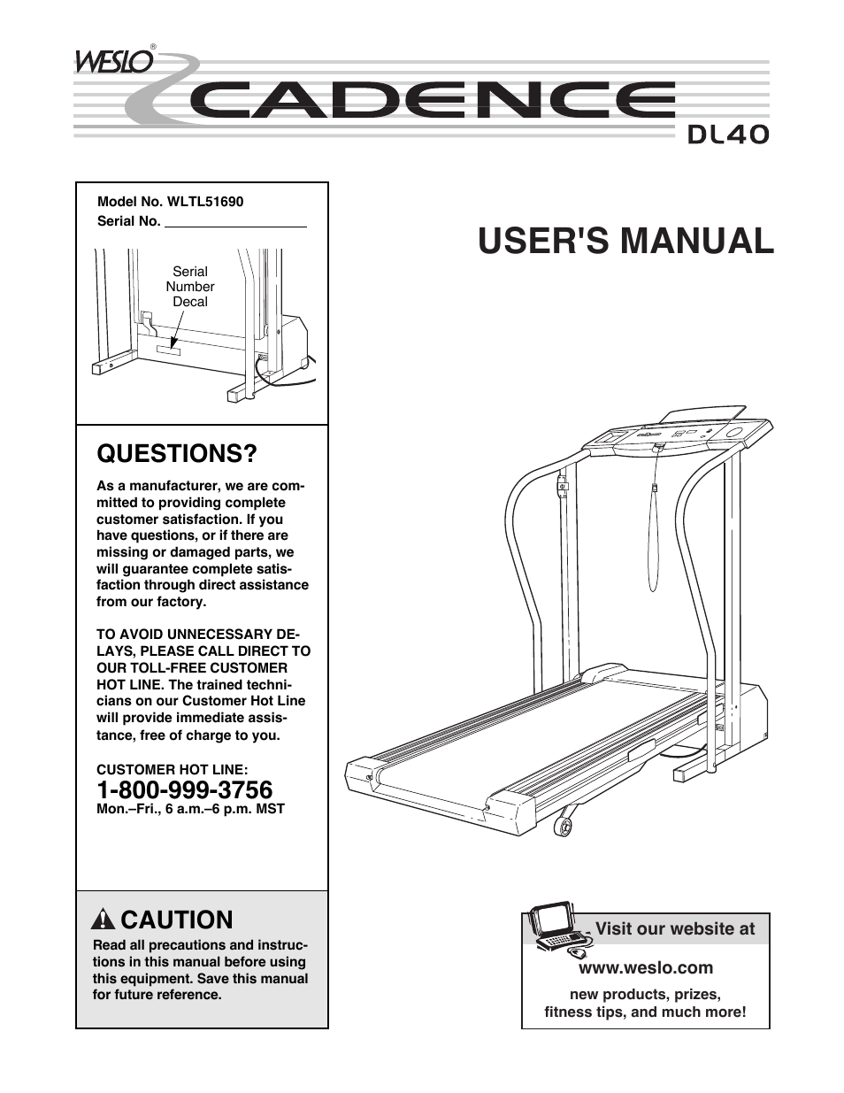Weslo Cadence Dl40 User Manual 18 Pages Treadmill Wiring Diagram