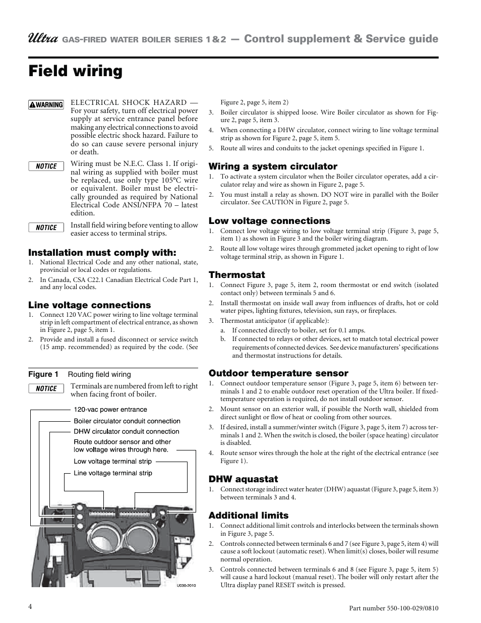 Canadian Electrical Code Low Voltage Wiring Trusted Diagrams Canada Field Control Supplement Service Guide Weil Mclain Ultra Household Diagram