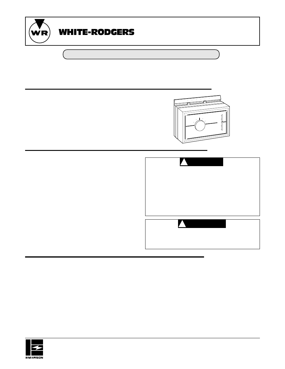 White Rodgers 1F58 User Manual | 6 pages