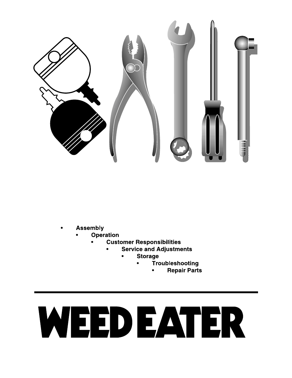 Weed Eater 177019 User Manual