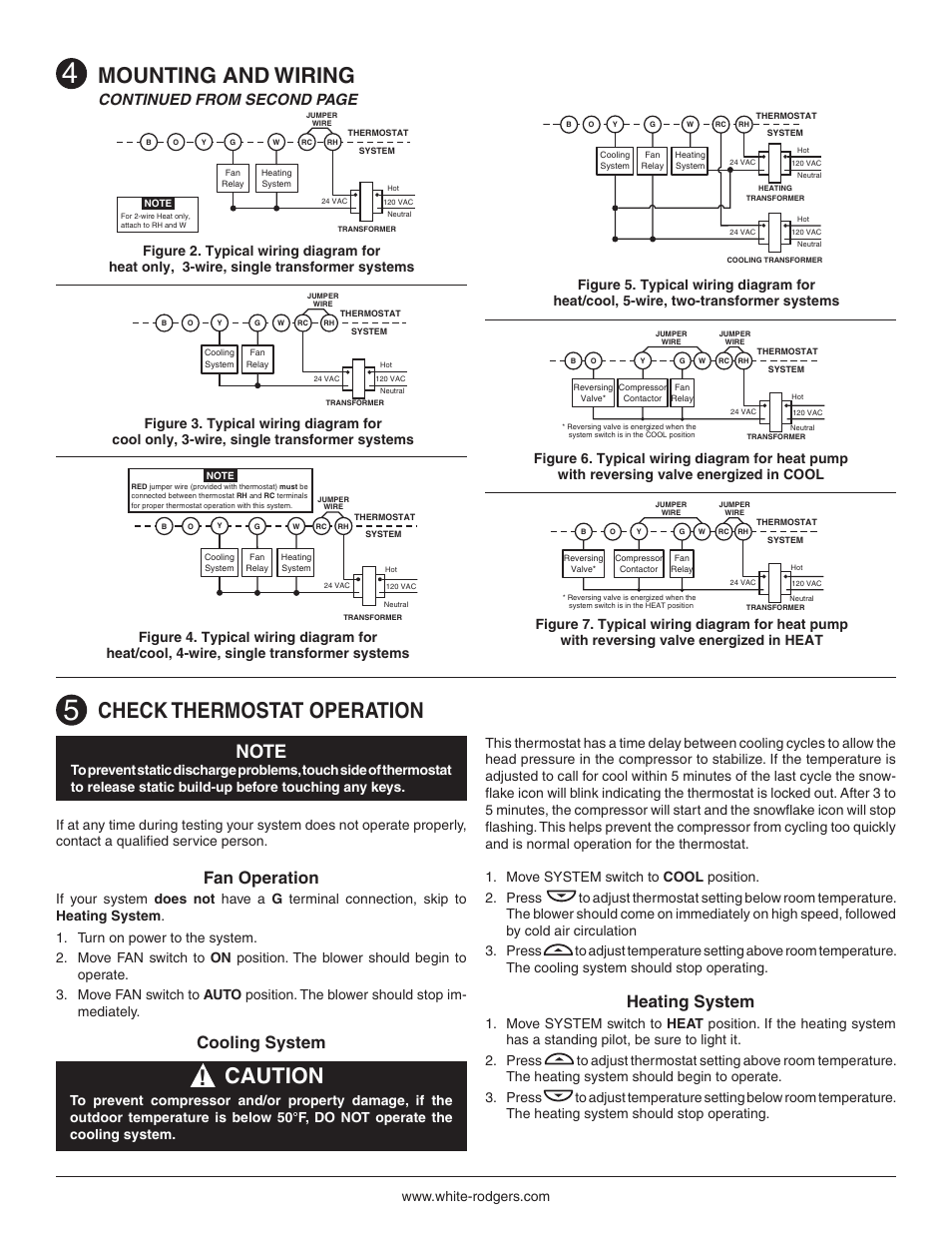 Check Thermostat Operation  Mounting And Wiring  Caution
