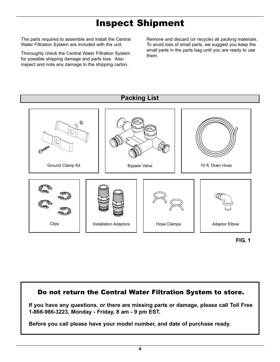Inspect Shipment Packing List Whirlpool Whelj1 User