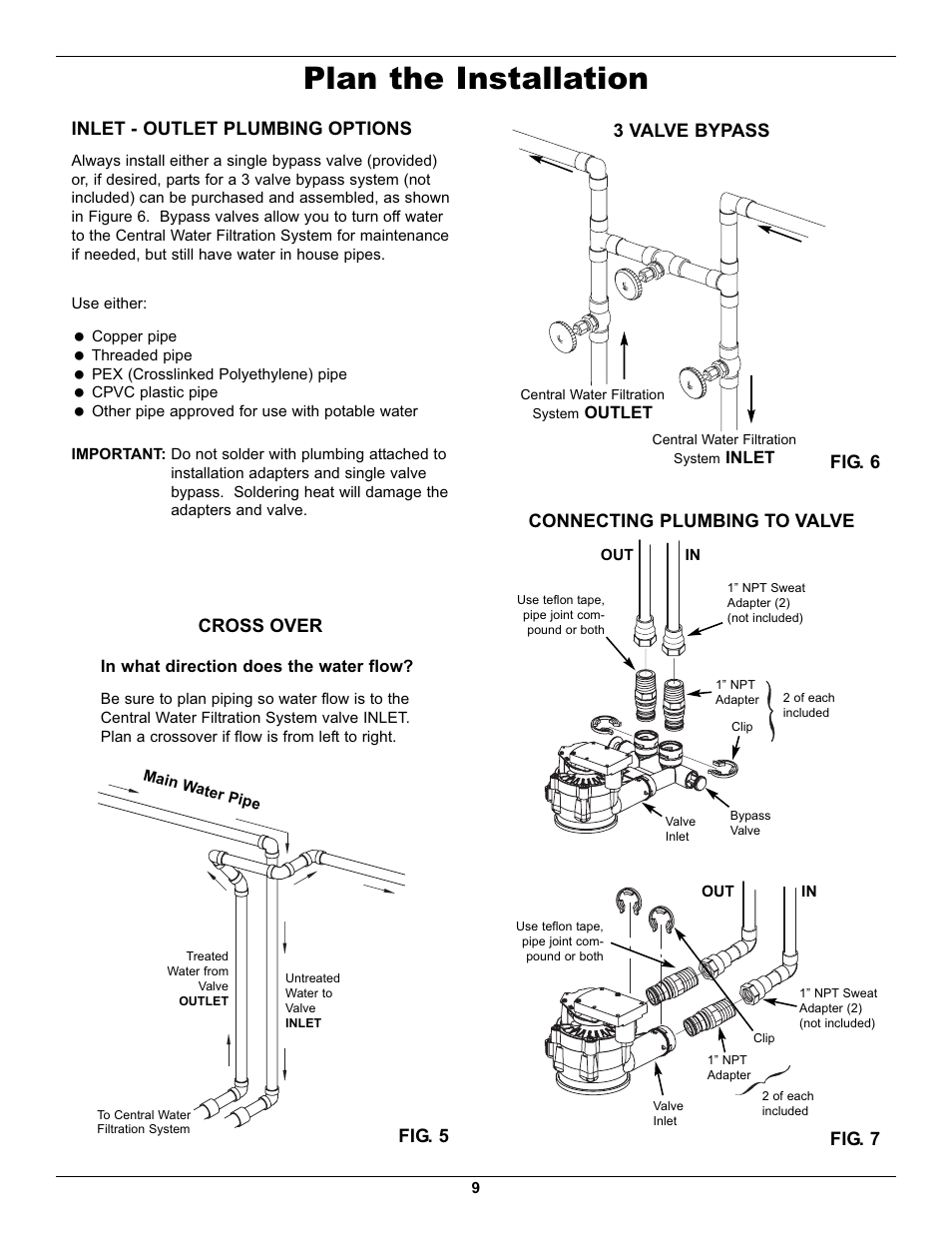 Plan The Installation Inlet Outlet Plumbing Options