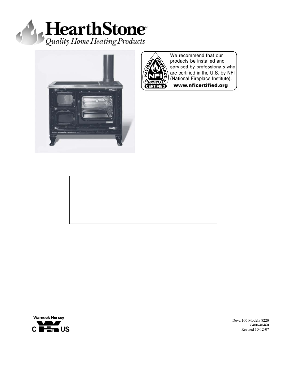 Earth Stove Fireplace Insert Manual