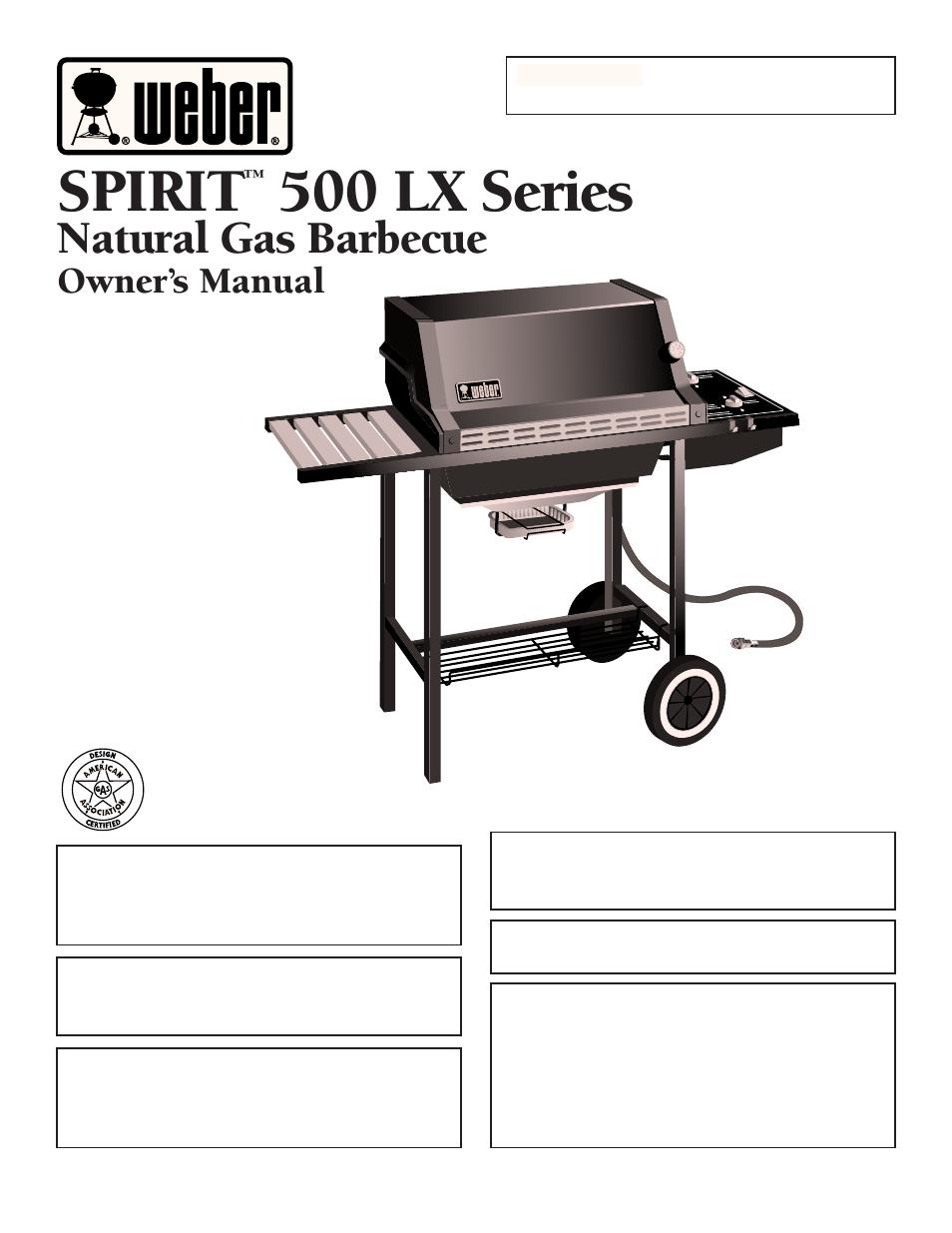 weber SPIRIT 500 LX User Manual | 32 pages