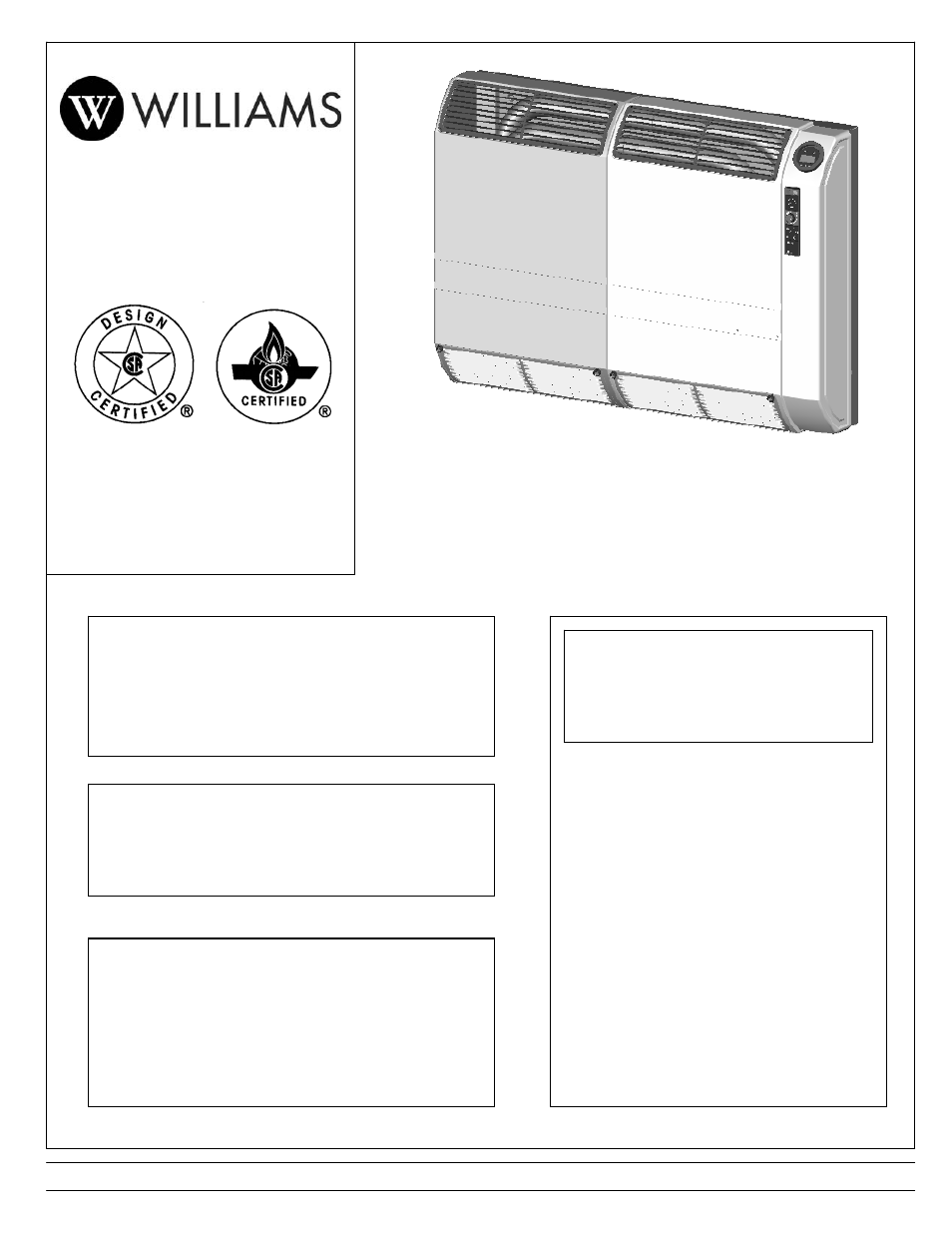 Williams 2903512 user manual 24 pages also for 2903511 publicscrutiny Choice Image