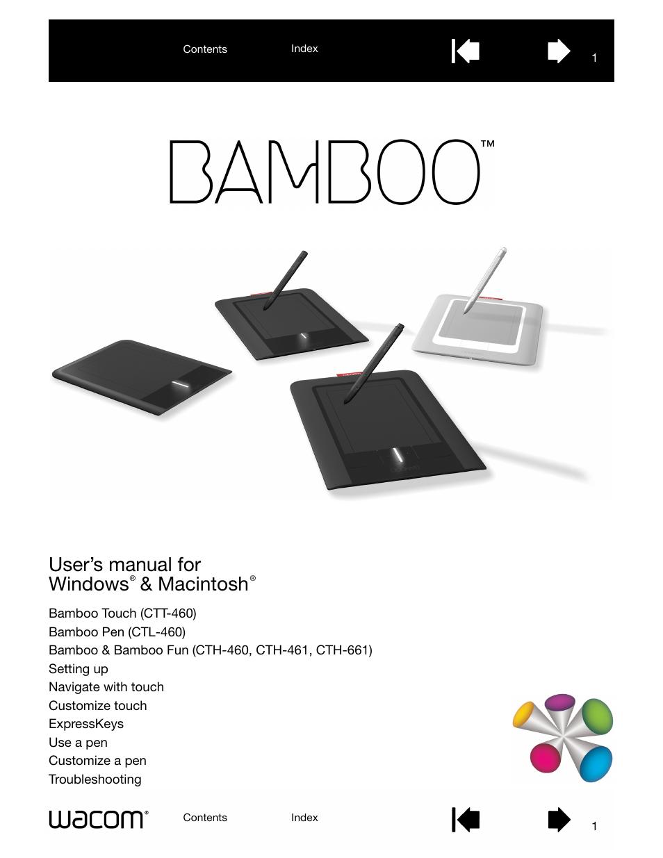wacom bamboo ctl 460 user manual 90 pages rh manualsdir com wacom bamboo spark user manual wacom bamboo slate user manual