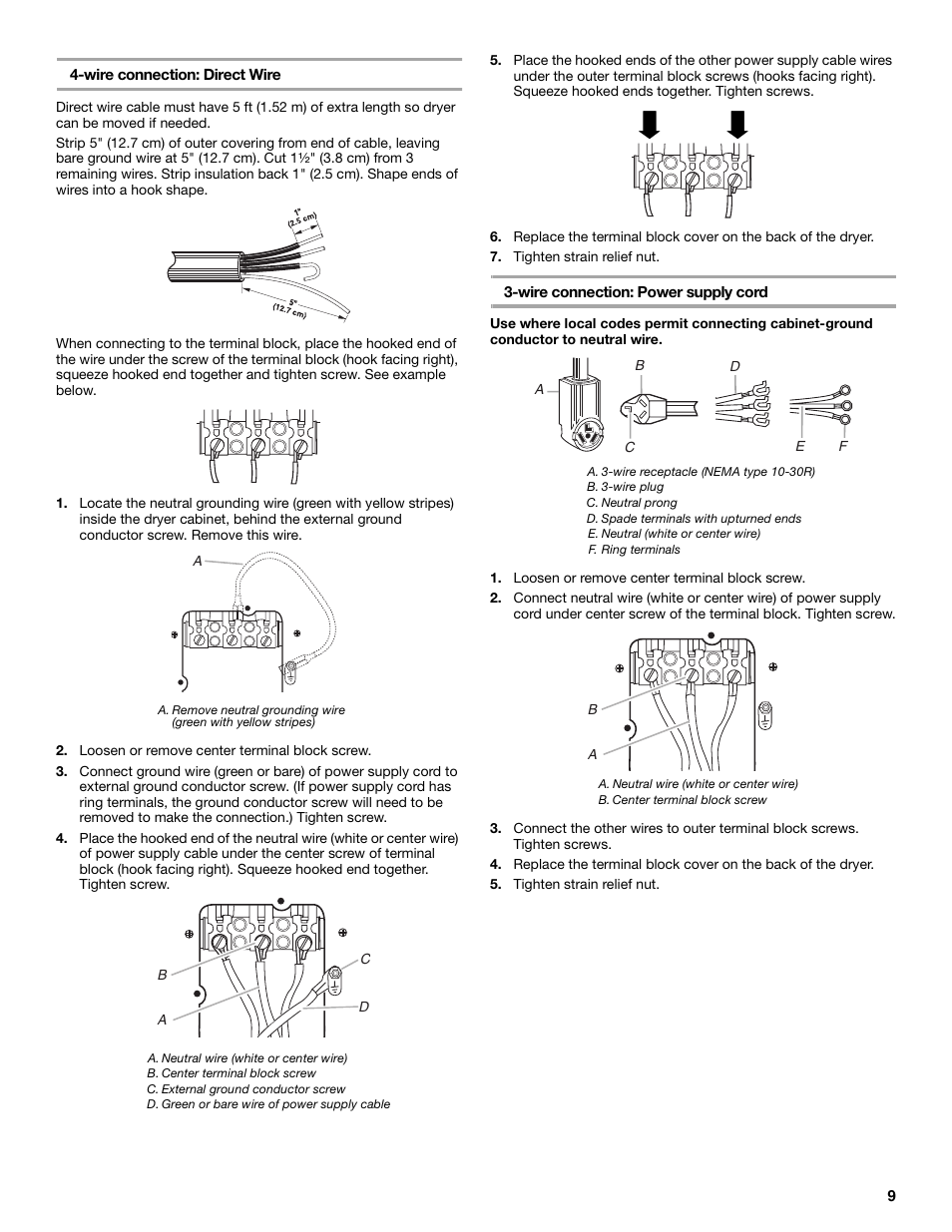 Whirlpool 240 Volt Electric Dryer User Manual Page 9 20