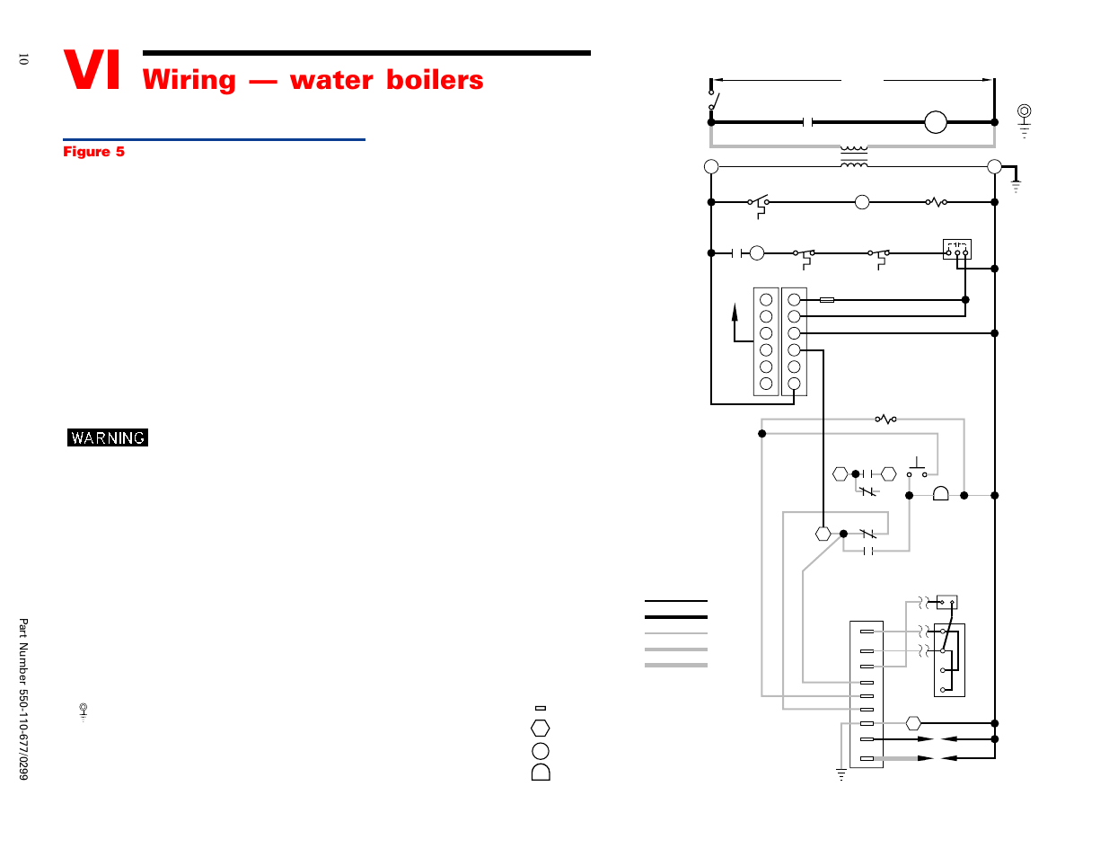 Wiring        water boilers  Ladder    wiring       diagram      Weil