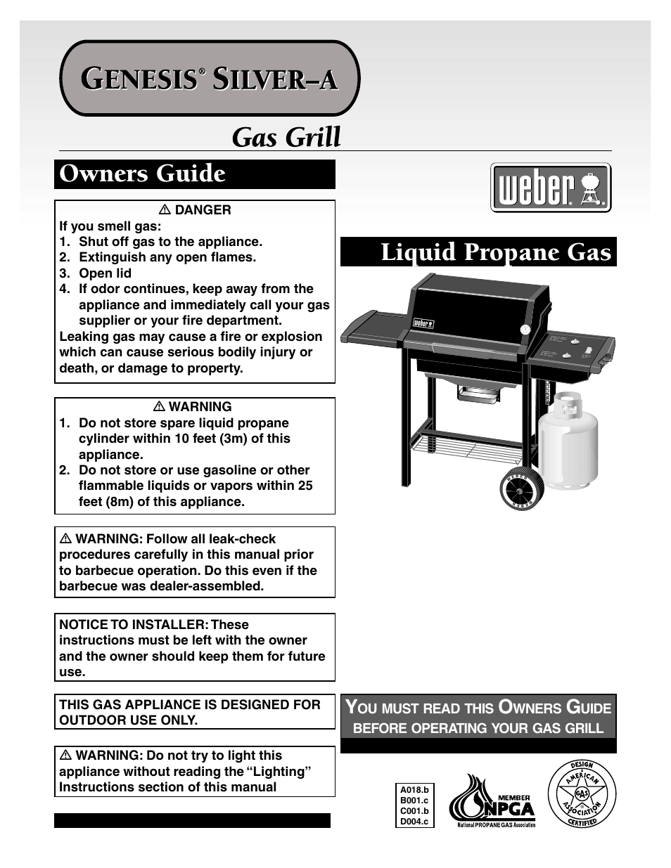 Weber Genesis Silver A User Manual 32 Pages