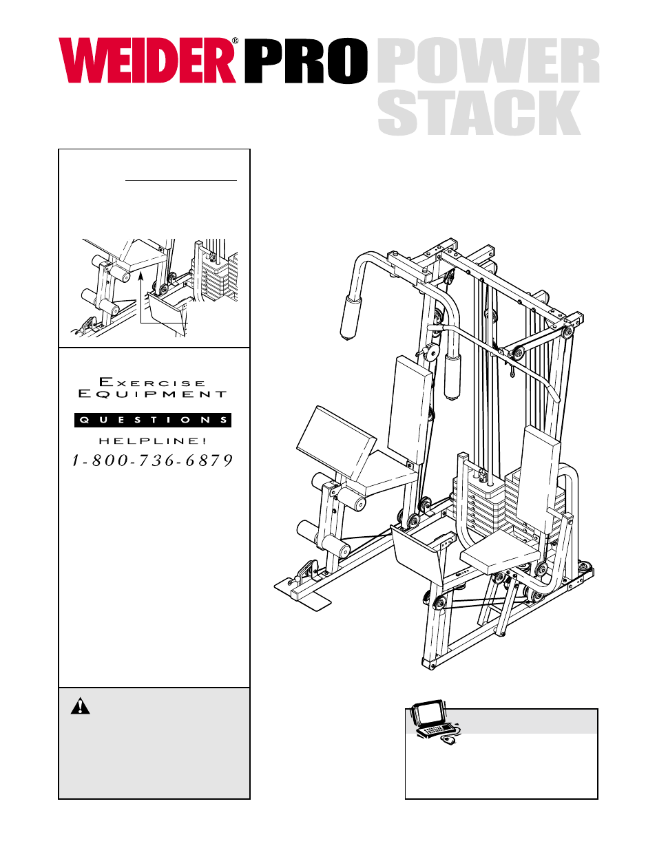 weider pro power stack 831 159831 user manual