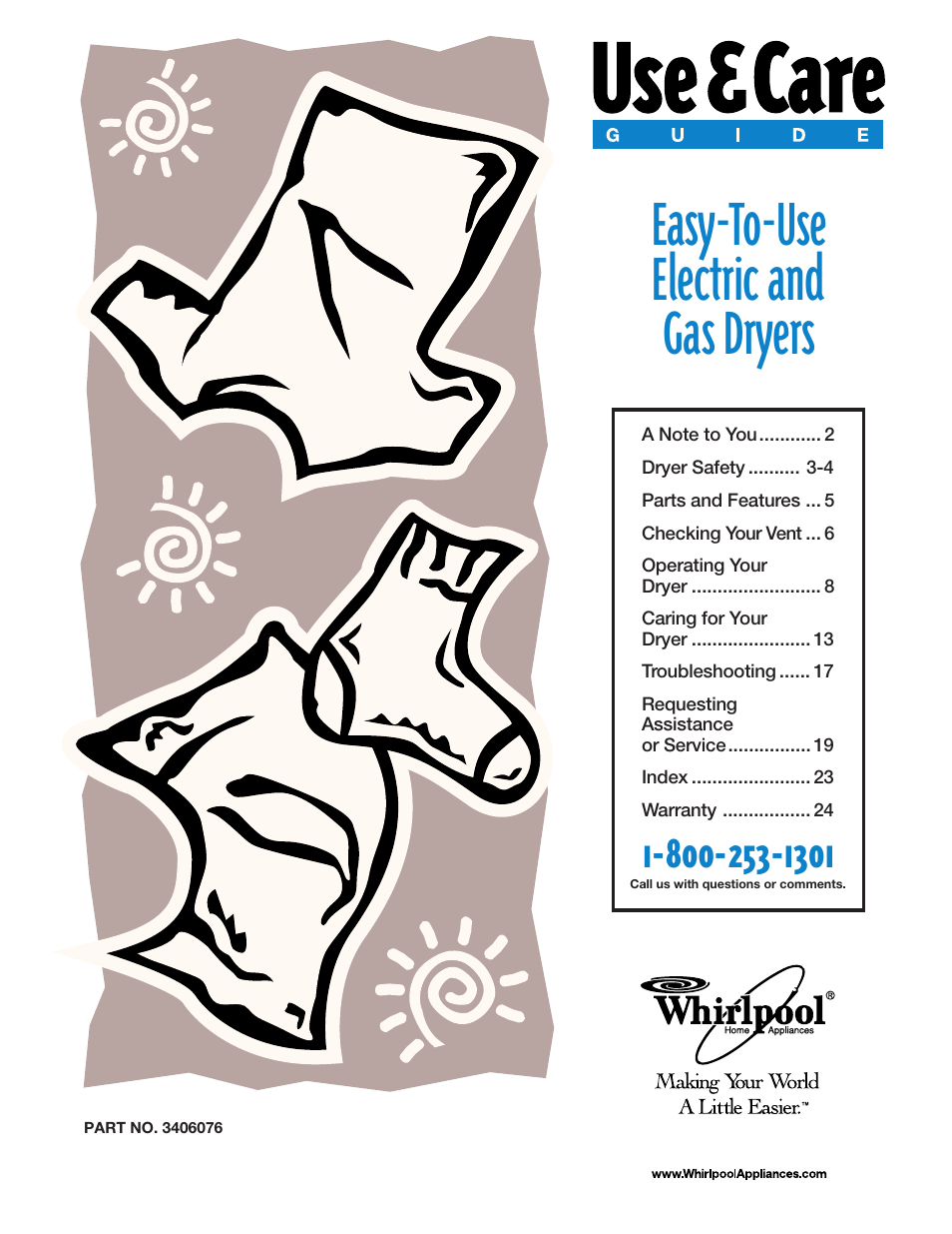 whirlpool gas dryers user manual