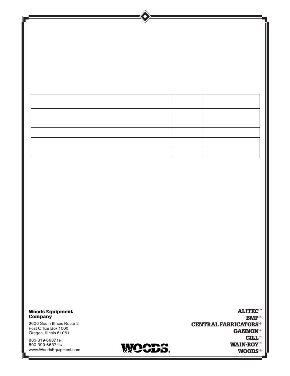 warranty woods equipment rd72 user manual page 46 48 rh manualsdir com Heavy Equipment Manuals Heavy Equipment Manuals