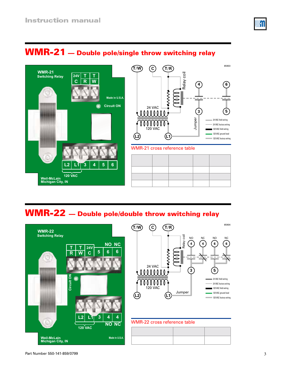 Ar821 Argo Relay Wiring Diagram Library Wmr 21 22 Instruction Manual Weil Mclain
