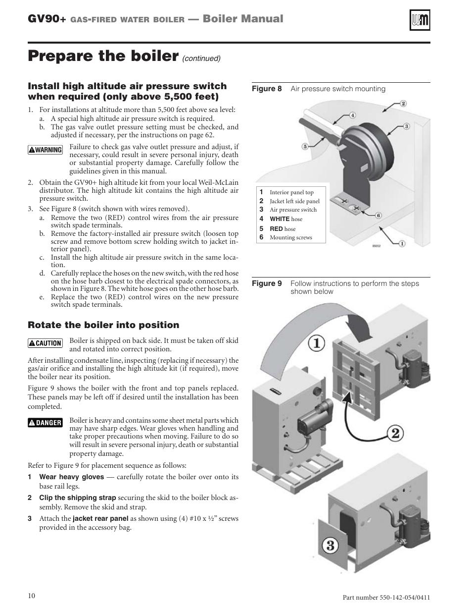 Prepare the boiler, Gv90, Boiler manual | Weil-McLain GV90+ User ...