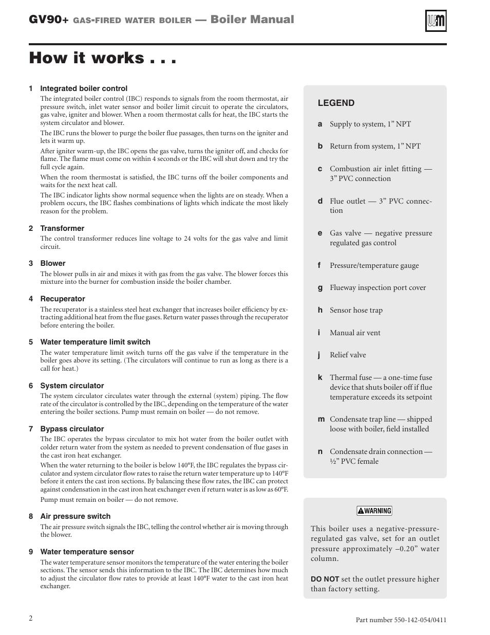 How it works, Gv90, Boiler manual | Weil-McLain GV90+ User Manual ...