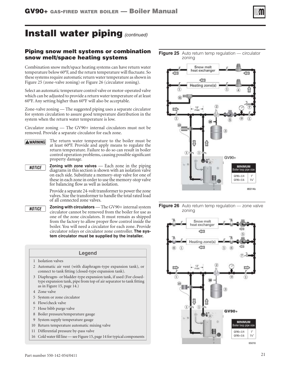 Install Water Piping Gv90 Boiler Manual Weil Mclain User Schematic Diagram Page 21 108