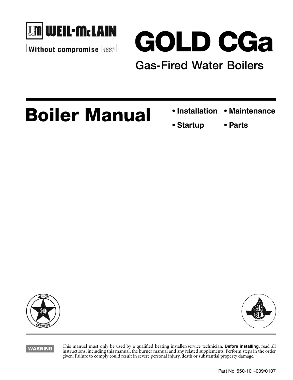 Weil Mclain Gold Cga User Manual 68 Pages Boiler Wiring Diagram