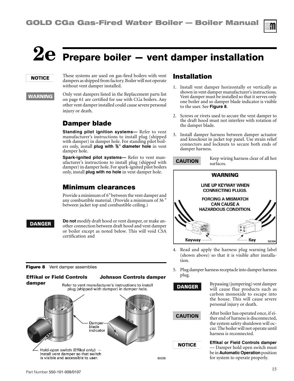 Prepare Boiler  U2014 Vent Damper Installation  Gold Cga Gas
