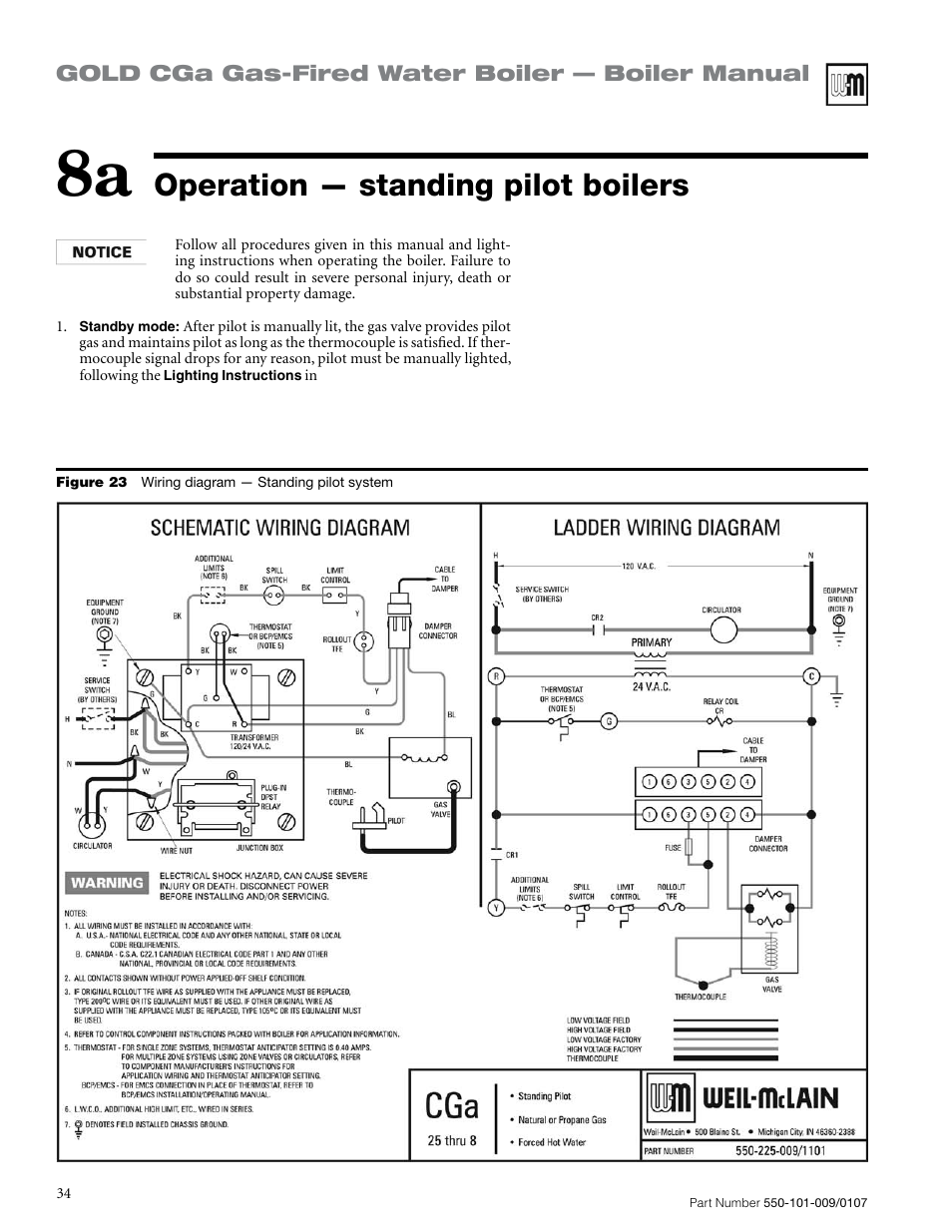 operation \u2014 standing pilot boilers weil mclain gold cga Weil-McLain Boiler Parts List